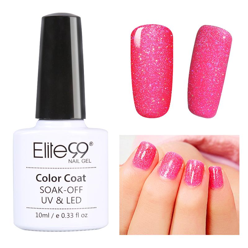 Elite99 Bling Neon UV LED Gel Nail Polish Glitter UK Stock | eBay