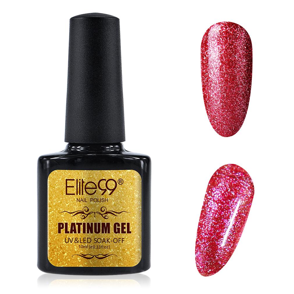 Elite99 Platinum UV LED Gel Nail Polish Glitter UK Stock